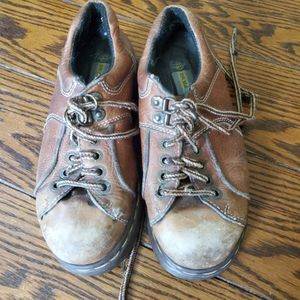 Vintage Dr Martens brown low boot made in England
